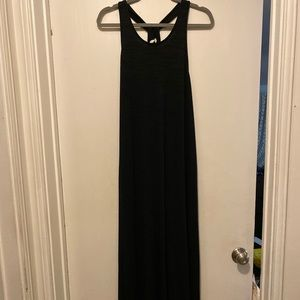XL Gap Maxi Dress in Black